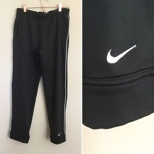 NIKE Women's Team FITDRY Black Warm-Up Knit Pants